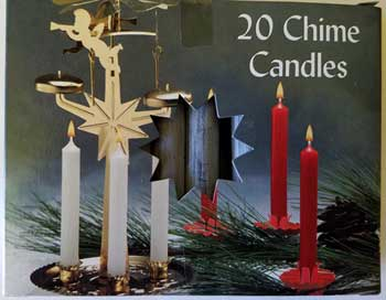 Navy Blue Chime Candle 20pk