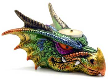 "6 1/2"" Dragon tealight holder"