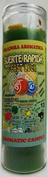 Fast Luck (Suerte Rapida) aromatic jar candle