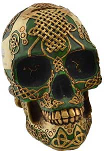 Green Celtic Skull bank