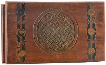 Celtic Knot Wooden Chest