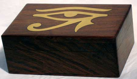 Brass Inlaid Eye of Horus Box