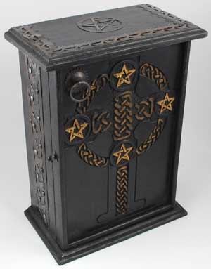 Pentagram and Celtic cupboard
