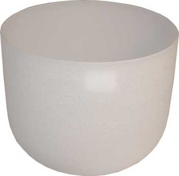 "8"" White Crystal Singing Bowl"