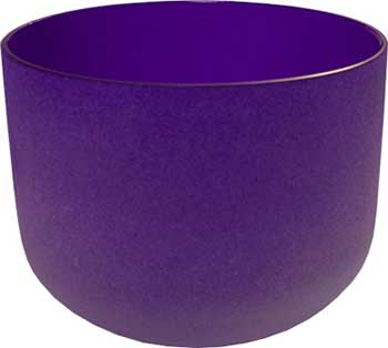 "8"" Purple Crystal Singing Bowl"