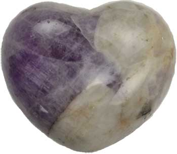 "1 3/4"" Amethyst, Chevron heart"