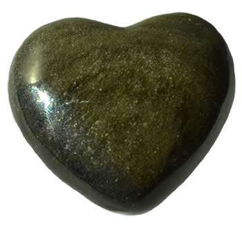 "1 3/4"" Obsidian, Golden heart"