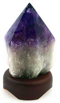 "7"" Amethyst Point lamp o/s 10/2018"