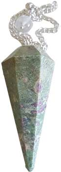 6-sided Ruby Zoisite