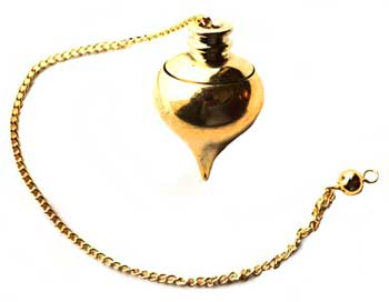 gold plated pendulum w Compartment