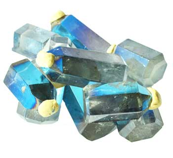 1 lb Angel Aqua Blue Crystal points