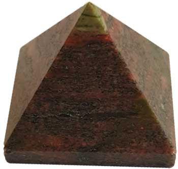 25-30mm Unakite pyramid