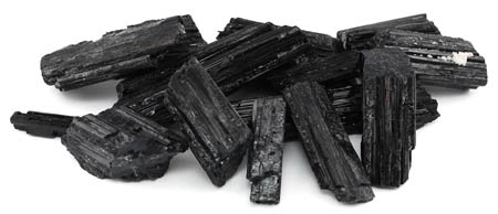 1 Lb Black Tourmaline untumbled
