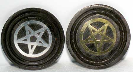 Black Pentagram coaster