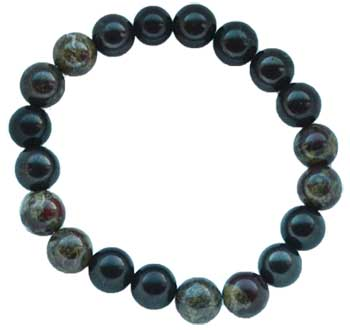 10mm Shungite with asst stones bracelet