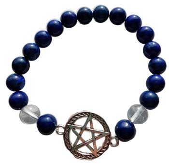 8mm Lapis/ Quartz Pentagram