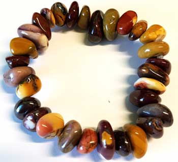Mookaite gemstone bracelet stretch