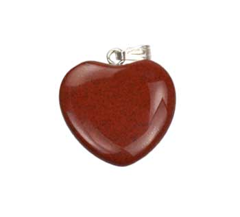 "3/4"" (20mm) Jasper, Red heart"