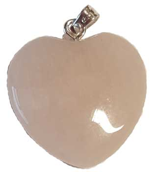 "3/4"" (20mm) Rose Quartz heart"