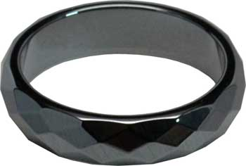 6mm Hematite Faceted rings (50/bag)