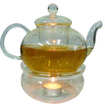 Glass teapot w/ Warmer