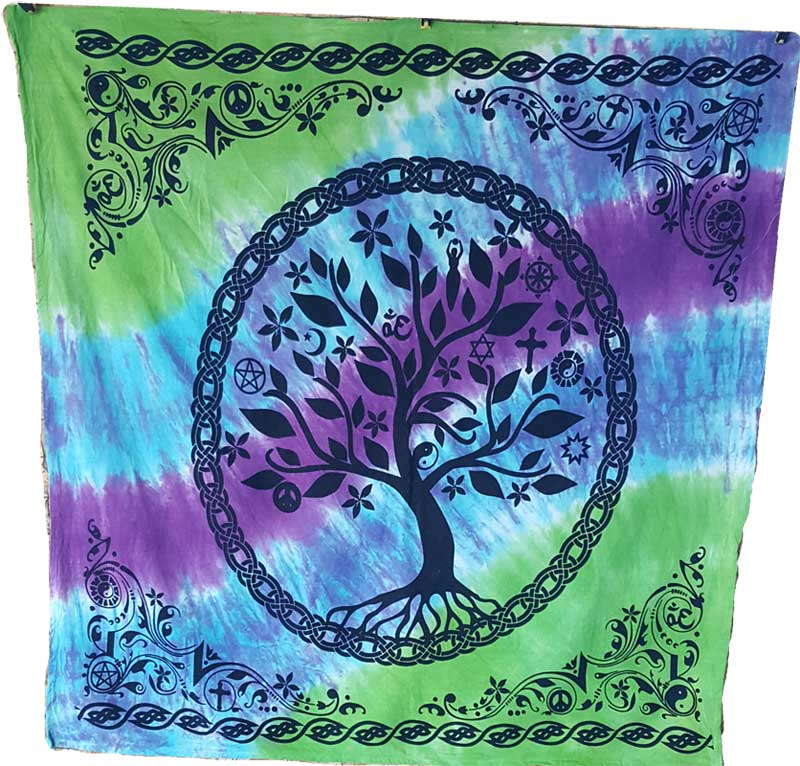 "36"" x 36"" Tree of Life altar cloth"
