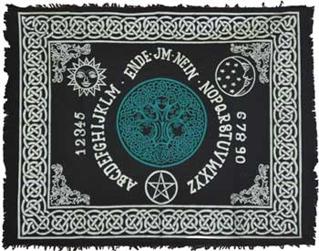 "Tree of Life Ouija-Board altar cloth 24""x30"""