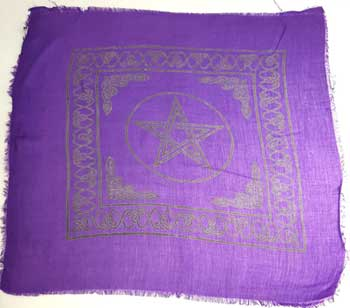 "Pentagram altar cloth 18"" x 18"""