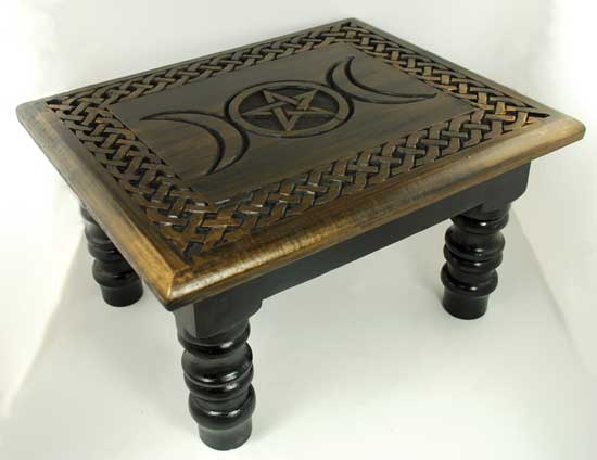 "Triple Moon altar table 14"" x 11"""
