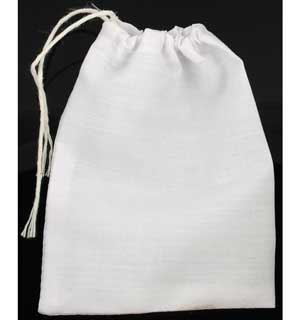 White Cloth Bag 3x4