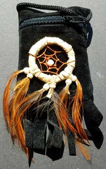 Black bag dream catcher