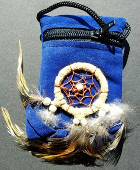 Blue bag dream catcher