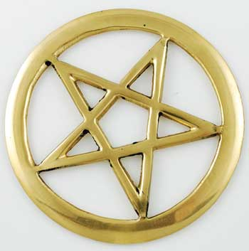 Brass Cut-Out Pentagram 3""