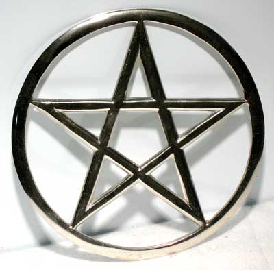 Large Cut-Out Pentagram altar tile