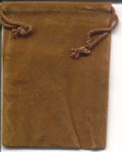 Bag Velveteen 3 x 4 Brown - Click Image to Close