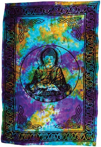 "Buddha 72"" x 108"" tapestry - Click Image to Close"