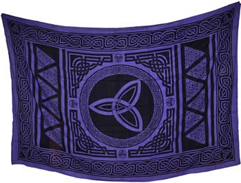 "Triquetra 72"" x 108"" tapestry"
