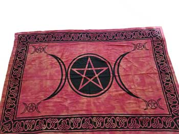 "72"" x 108"" Triple Goddess Tapestry Purple & Black"