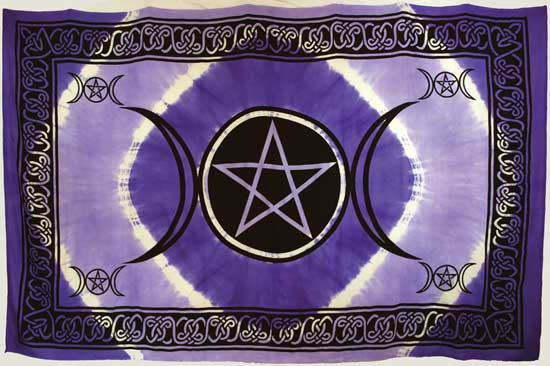 "Purple Triple Moon Pentagram (72"" x 108"")"