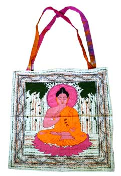 "18"" x 18"" Meditating Budhha tote bag"